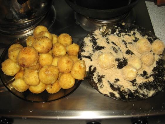 Картофельные крокеты,