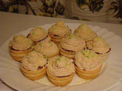 Корзинки, рецепт сладких пирожных