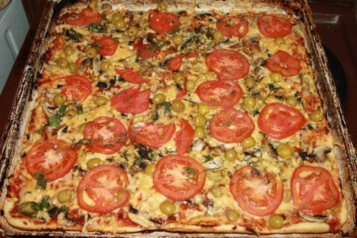 Пицца рецепт в домашних условиях в духовке с курицей и грибами